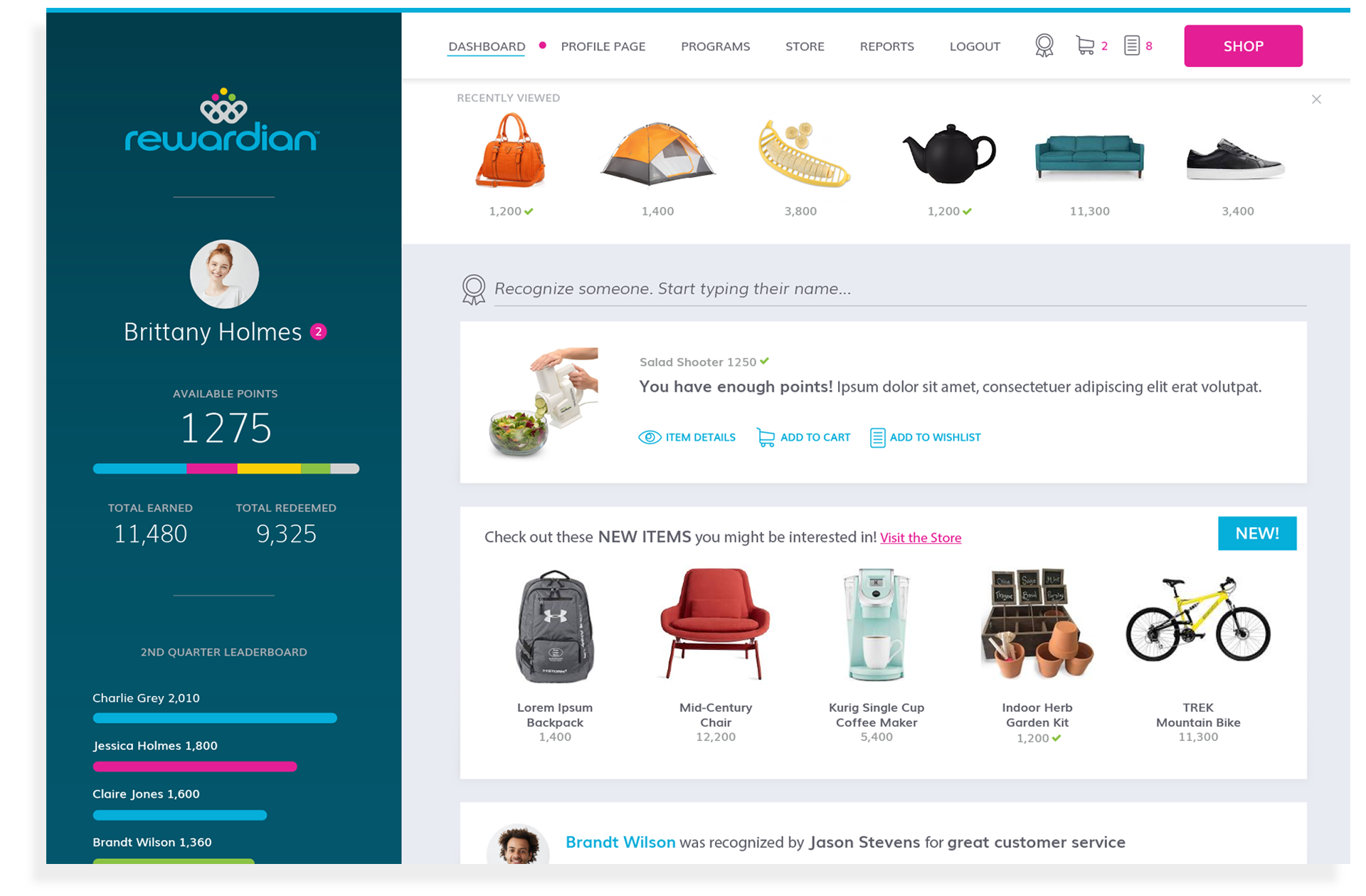 dashboard-home-shop-experience